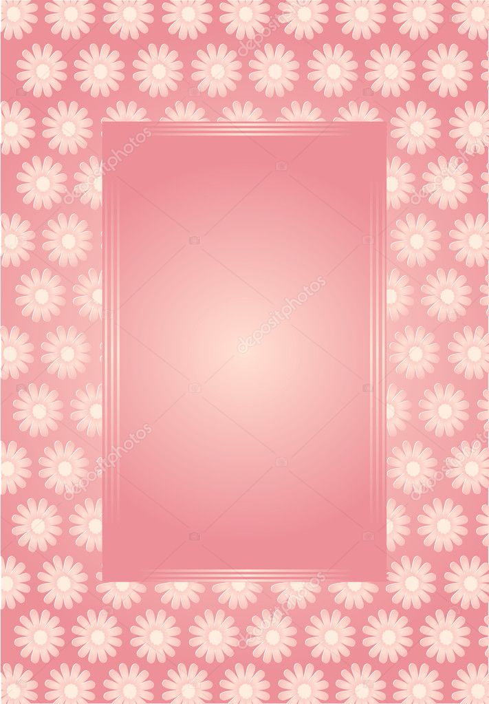 Vector illustration of flower card for special occasions  Stock Vector #2042617