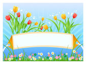 Spring card — Stock Vector