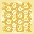 Bee and honey pattern — Stock Vector