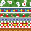 Christmas vector border - Stock Vector