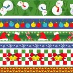 Christmas vector border — Stock Vector