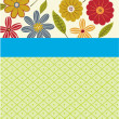 Special occasion flower card — Stock vektor