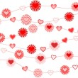 Valentine background with heart — Stock Vector