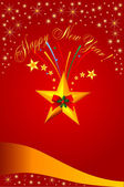 Royal Christmas card — Stock Vector
