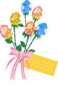 Easter flowers — Stock Vector