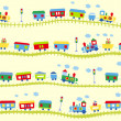 Royalty-Free Stock Vector: Train pattern