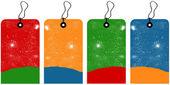Christmas tags — Stock Vector