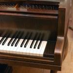 Grand piano keyboard — Stock Photo