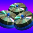 Royalty-Free Stock Photo: CD and DVD disc