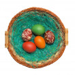 Easter eggs isolated — Stock Photo