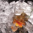 Stock Photo: Ice and whiskey