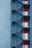 Backstairs of high building — Stock Photo