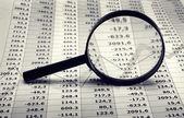 Finance and economy charts — Stock Photo