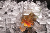 Ice and whiskey — Stock Photo
