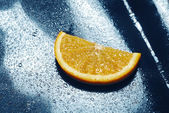 Orange slice. fresh fruit — Stock Photo