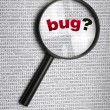 Stock Photo: Bug in code
