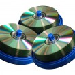 Stock Photo: CD and DVD discs
