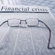 Financial crisis news — Stock Photo
