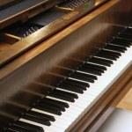 teclas de piano de cola — Foto de Stock