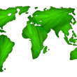 Green map of the world — Stock Photo