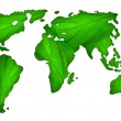 Green map of the world — Stock Photo #2604998