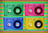 音質評価に関わるテープ ディスコ — ストック写真