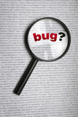 Bug in code — Stock Photo