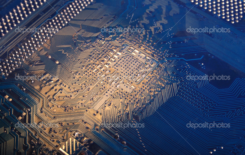 Motherboard part, computer hardware, digital technology.  Stock Photo #2601211