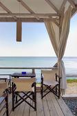 Veranda on beach — Stock Photo