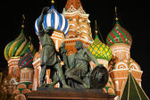St. Basil Cathedral at the night — Stock Photo