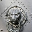 Old door with lion head — Stock Photo