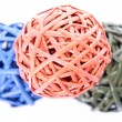 Colorful woven balls — Stock Photo