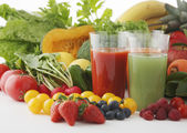 Fresh healthy Fruits and Juice — Stockfoto