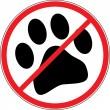 No dogs — Stock Vector