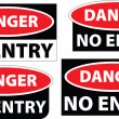Danger - no entry — Stock Photo