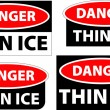 Danger - thin ice — Stock Photo #1987073