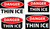 Danger - thin ice — Stock Photo