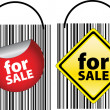 Royalty-Free Stock Photo: Far sale signs