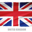 National flag of United Kingdom — Stock Photo