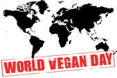 World vegan day — Stock Photo