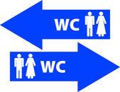 Toilet signs — Stock Photo