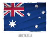 National flag of Australia — Stock Photo