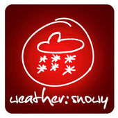Weather: snowy — Stock Photo
