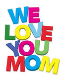 We love you mom — Stock Photo