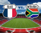 France vs. South Africa — Stock Photo