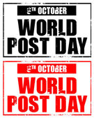 October 9 - world post day — Stock Photo