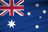 National flag of Australia — Stock Photo