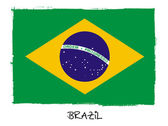 National flag of Brazil — Stock Photo