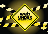 Web under construction — Stock Vector