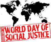 World day of social justice — Stock Vector
